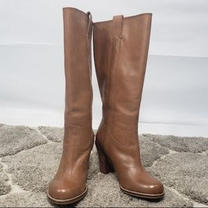 Lucky Brand Leather Maidie Rider Boots in Tuscany
